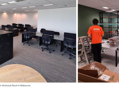 Turnkey Solution for Work Club Global fitout in Melbourne- not for one client but two