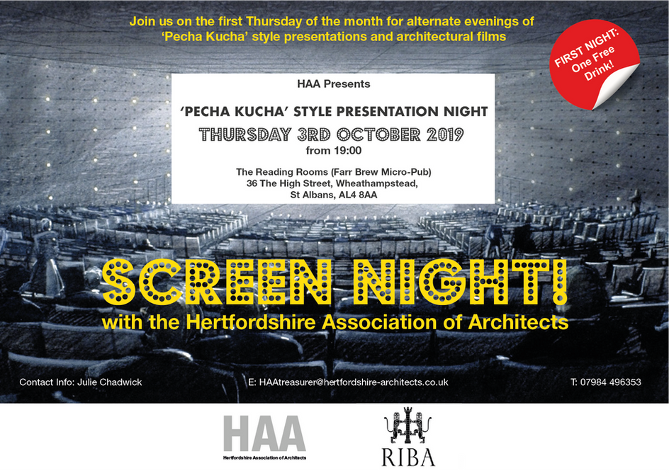Join is for a 'Pecha Kucha' Style Presentation Night