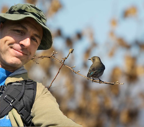 Keith with a Eastern Blue Bird