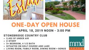 One Day Open House - Estate Sale! Boca Raton Florida April 18th, 2019