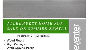 Allenhurst Home For Sale or Summer Rental