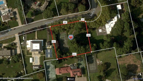 RARE OPPORTUNITY Own just under an acre of land on the coveted Saxony Drive, the most desired block