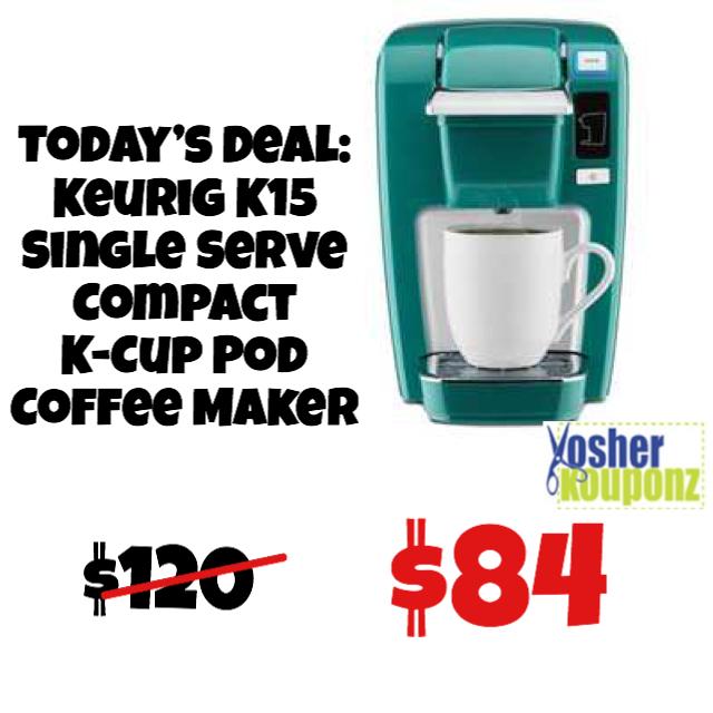 Keurig K15 Single Serve Compact K Cup Pod Coffee Maker Was 120