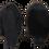 Thumbnail: Варежки меховые черные