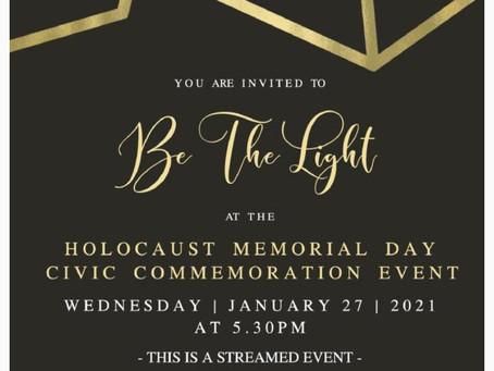 Holocaust Memorial Day Event Invitation
