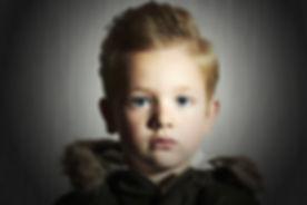 close-up portrait of Fashionable child i