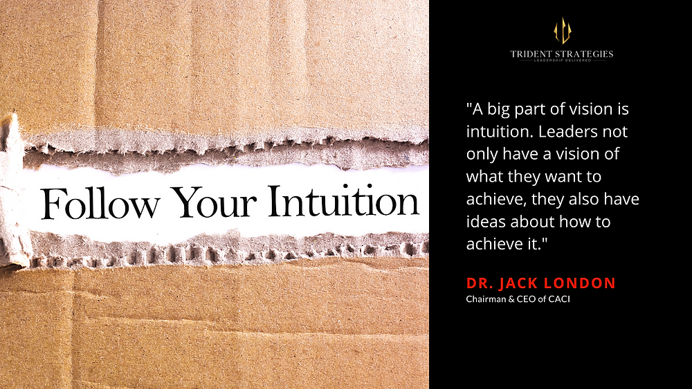 Leadership is all about intuition.