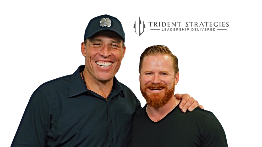 Tony Robbins and Trident Strategies CEO, Patrick Novak sharing a few laughs backstage.