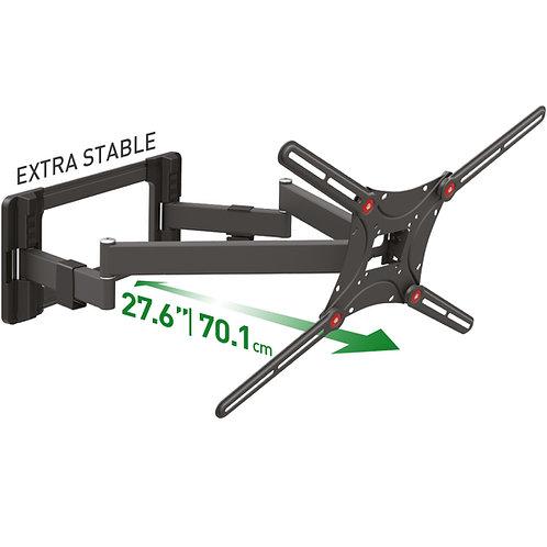 מוצר מחודש - דגם BM464L - זרוע ברקן כפולה 4 תנועות ארוכה במיוחד למסכי 13-90 אינץ