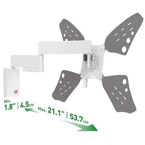 דגם 3400FW - זרוע ברקן לבנה שטוחה, דקה במיוחד, למסכי 32 - 70 אינץ'