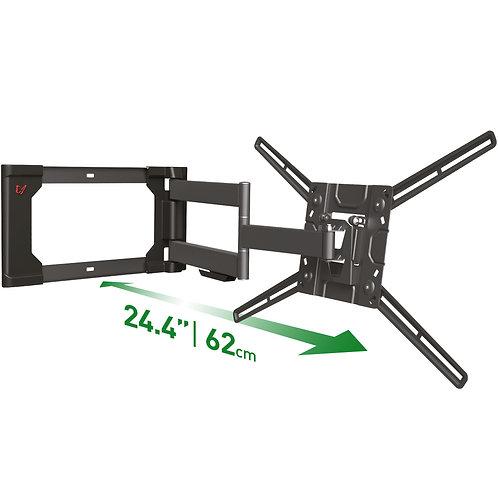 מוצר מחודש - דגם 4400 - זרוע ברקן 4 תנועות ארוכה ויציבה במיוחד למסכי 40-80 אינץ'