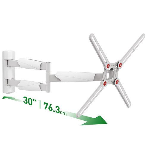 דגם BM343XL - זרוע ברקן לבנה 4 תנועות ארוכה במיוחד - למסכי 13 - 65 אינץ'