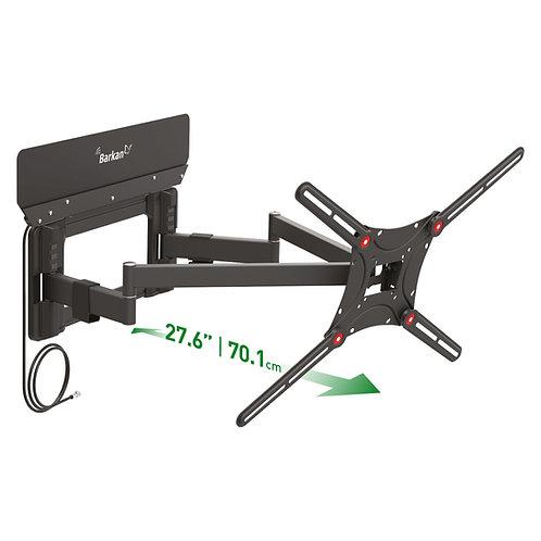 דגם VTM464L - זרוע ברקן כפולה, משולבת אנטנה ביתית מוגברת למסכי 13 - 90 אינץ'