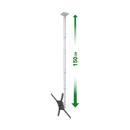 דגם 3500L - זרוע ברקן תקרתית ארוכה 3 תנועות למסכי 29-65 אינץ'