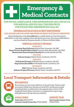 Emergency, Medical & Local Transport