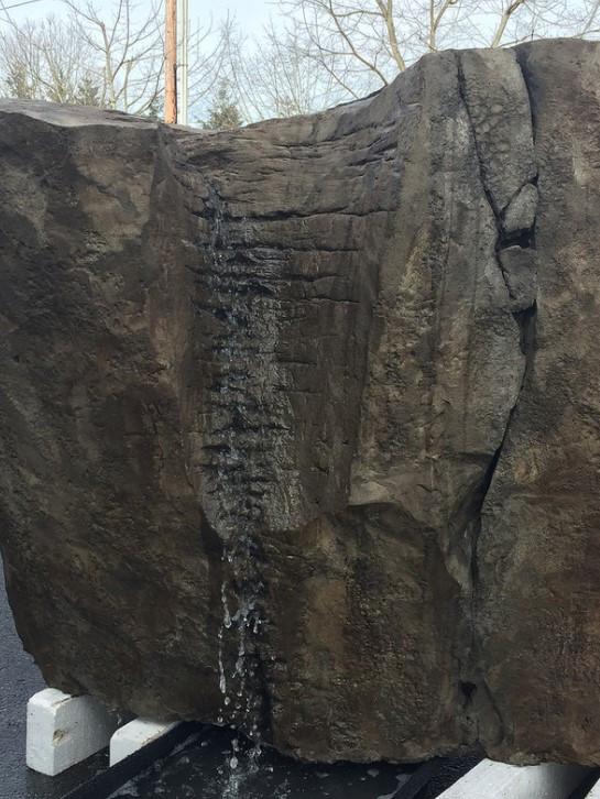 Carved Concrete Fountain Boulder