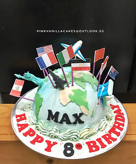 World Traveller cake
