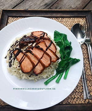 Chinese BBQ Pork Char Siew Rice