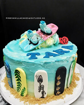 Wakeboarding cake