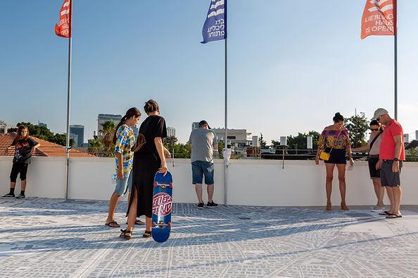 מפת העיר על גג בית ליבלינג, צילום: יעל שמידט