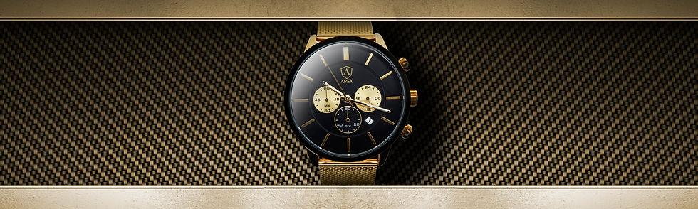 AAPEX gold men's watch