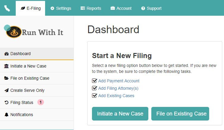 Our Simple and Easy Dashboard when you're logged in
