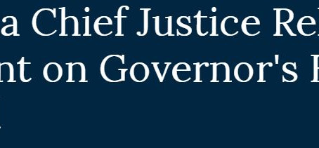 California Cheif Justice Releases Statement on Governor's Budget Proposal