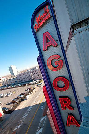 World Famous Agora Marquee Sign