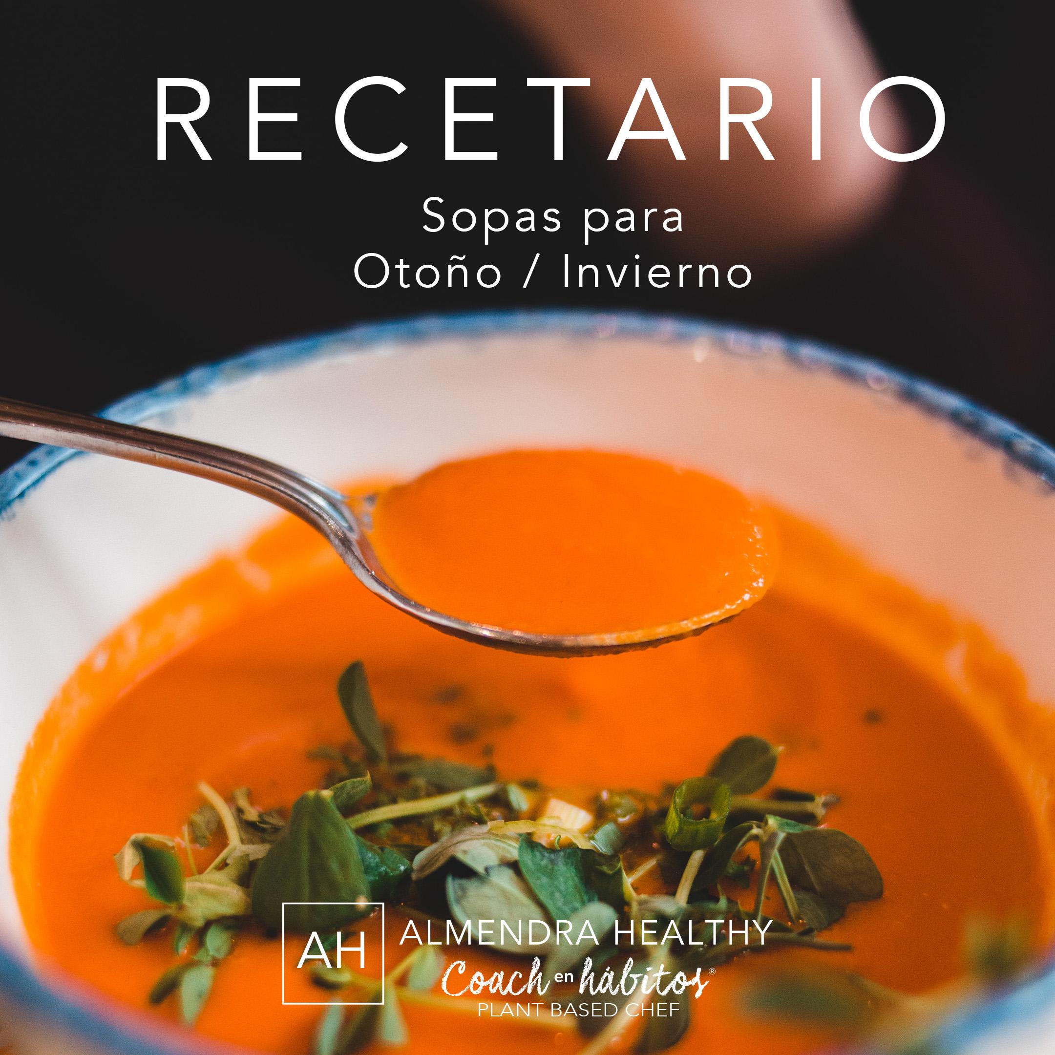 Recetario Sopas Otoño