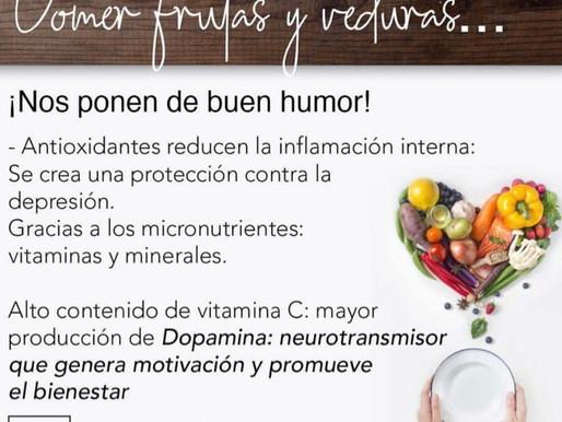 Comer frutas y verduras nos ponen de buen humor