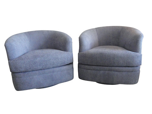 Pair Of Milo Baughman Swivel Tub Chairs