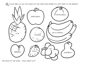 Sunday School Crafts | Fruits of the Spirit