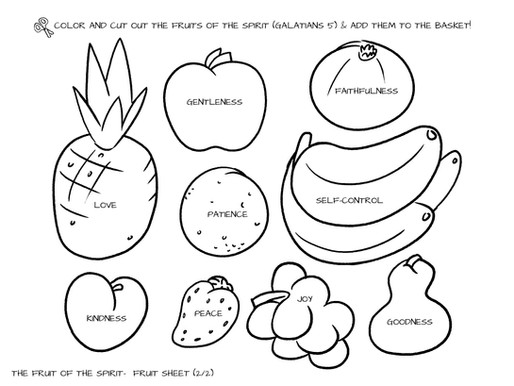 Sunday School Crafts   Fruits of the Spirit