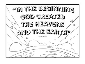 Coloring Pages   Genesis 1:1