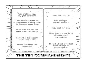 Coloring Pages   The Ten Commandments