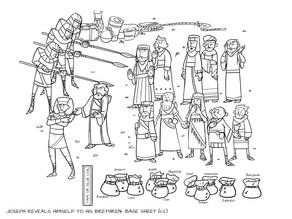Sunday School Crafts   Joseph Reveals Himself to His Brethren
