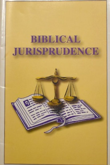 Biblical Jurisprudence
