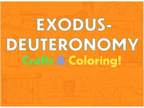 Sunday School COLLECTION | EXODUS-DEUTERONOMY Crafts & Coloring