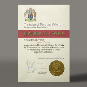 Honourary Fellowship 2003