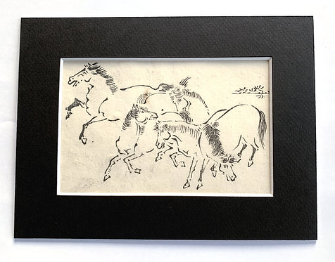 """""""Happy Horses"""", possible Tachibana Morikuni (1679-1748)"""