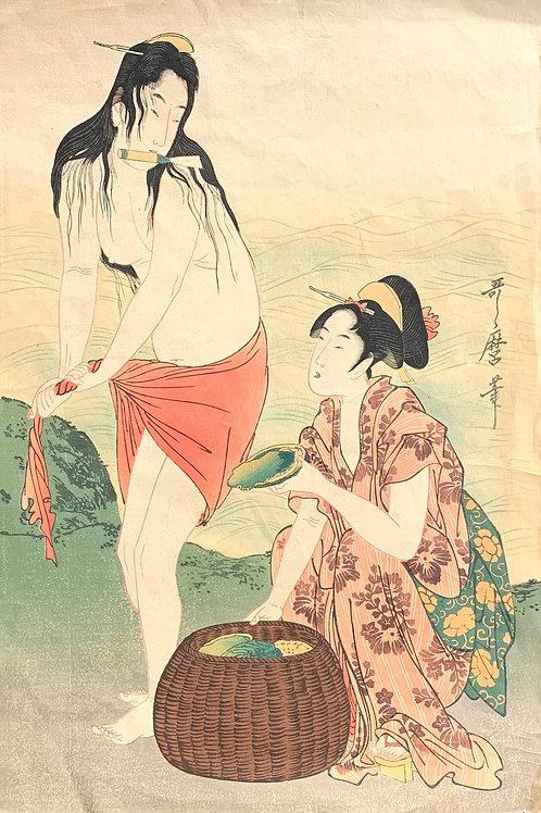 'Abalone Diversr' by Kitagawa Utamaro