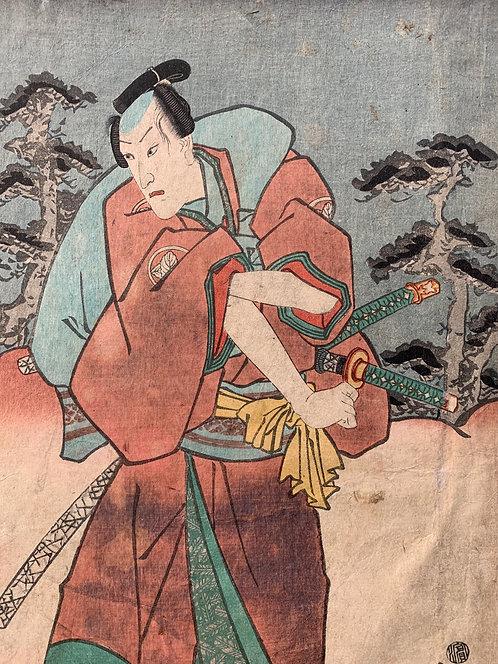 Kunisada original woodcut print
