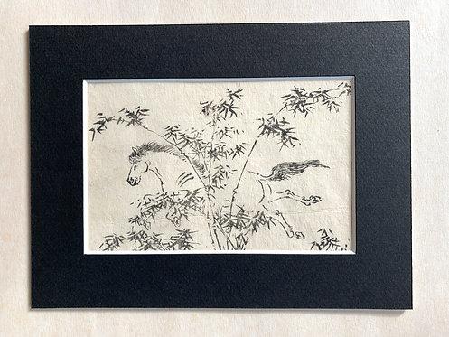 """""""A Happy Horse"""", possible Tachibana Morikuni (1679-1748)"""