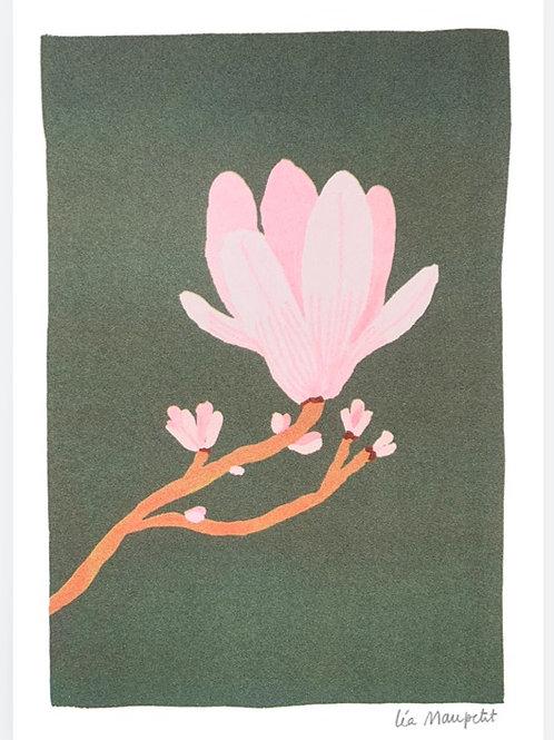 Risographie Magnolia de Léa Maupetit