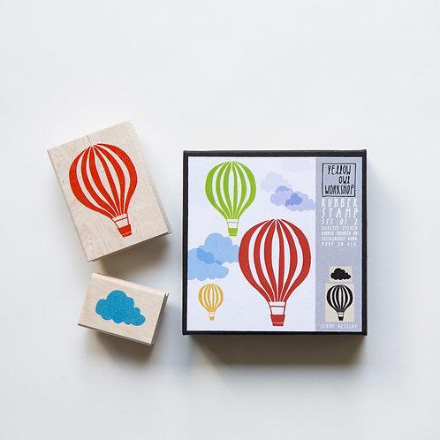 Tampons, montgolfière et nuage - (lot 2), Yellow owl workshop