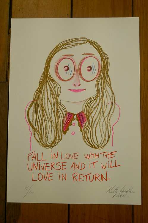 Kitty Crowther, Fall in love with the universe and it will love in return