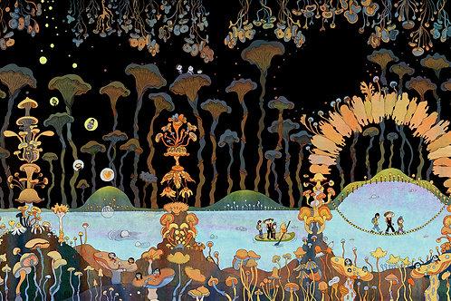 Jeanne Macaigne, Grotte aux champignons