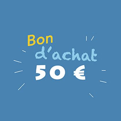 Bon d'achat 50 €