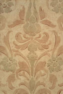 Faded Damask - Glazing Stencil