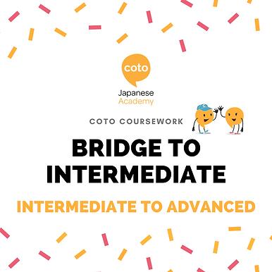Bridge to Intermediate - Part-time Course Materials